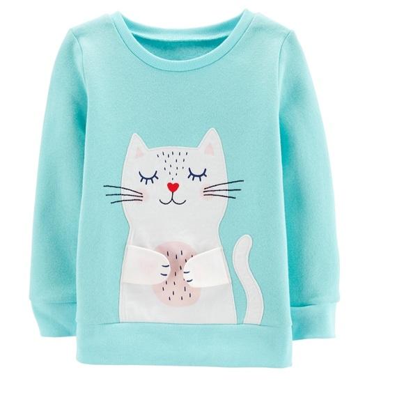 Carter's Other - Carter's interactive kitty sweatshirt